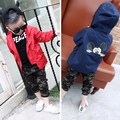 2017 Spring Autumn New Arrival Hooded Girls Coat 100% Cotton Jacket For Boys 3-14 Years Manteau Fille Windbreaker