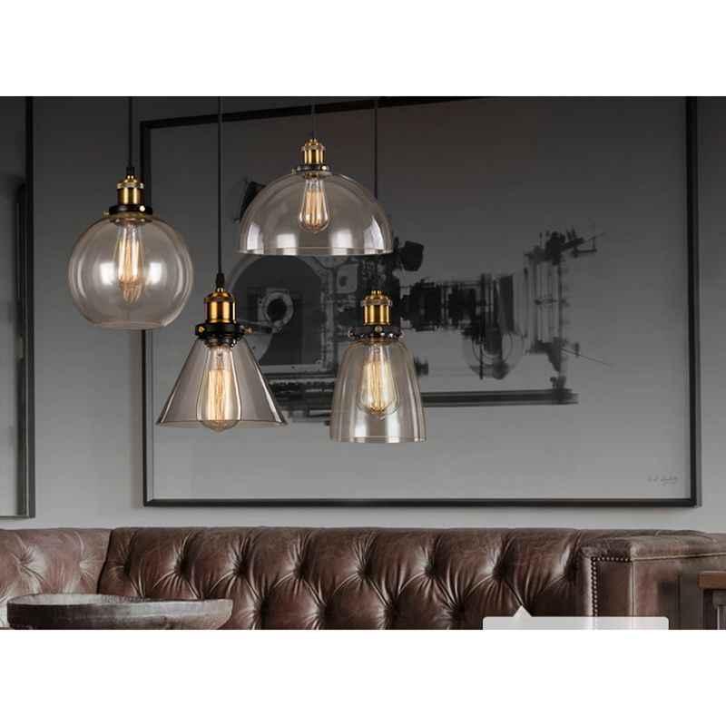 LukLoy Ретро Стеклянные подвесные светильники Светодиодный светильник для кухни светодиодный светильник подвесная потолочная лампа светильники для гостиной