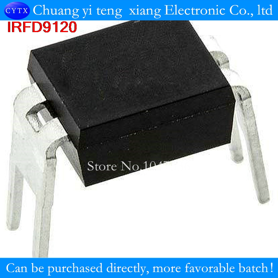 =0.60ohm, Id=-1.0A 10PCS 9120 IRFD9120 DIP-4 Power MOSFET Vdss=-100V, Rds on