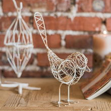 Bird nest iron wire knitted lantern tea-light candle holder for desktop decoration