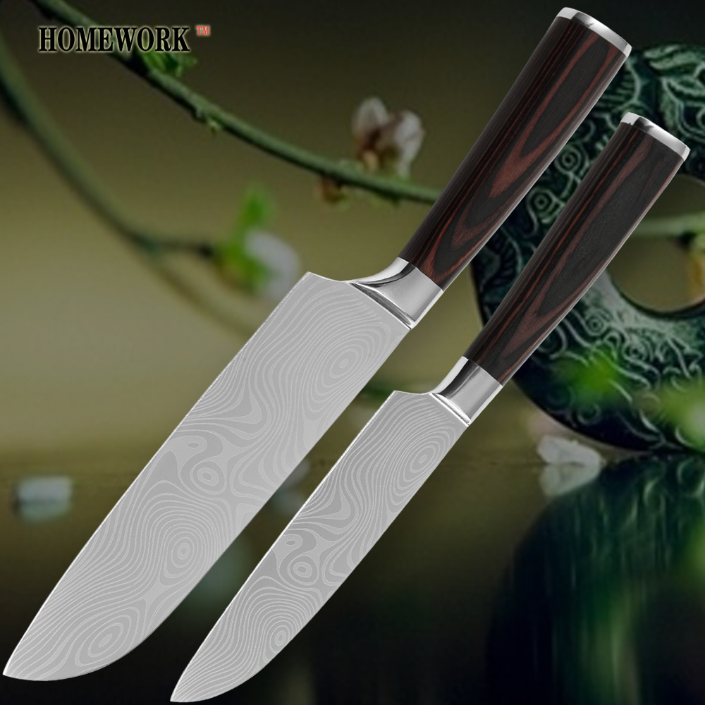 high quality kitchen knife 7 inch 5 inch wooden handle high quality kitchen knife damascus knife buy chef knife
