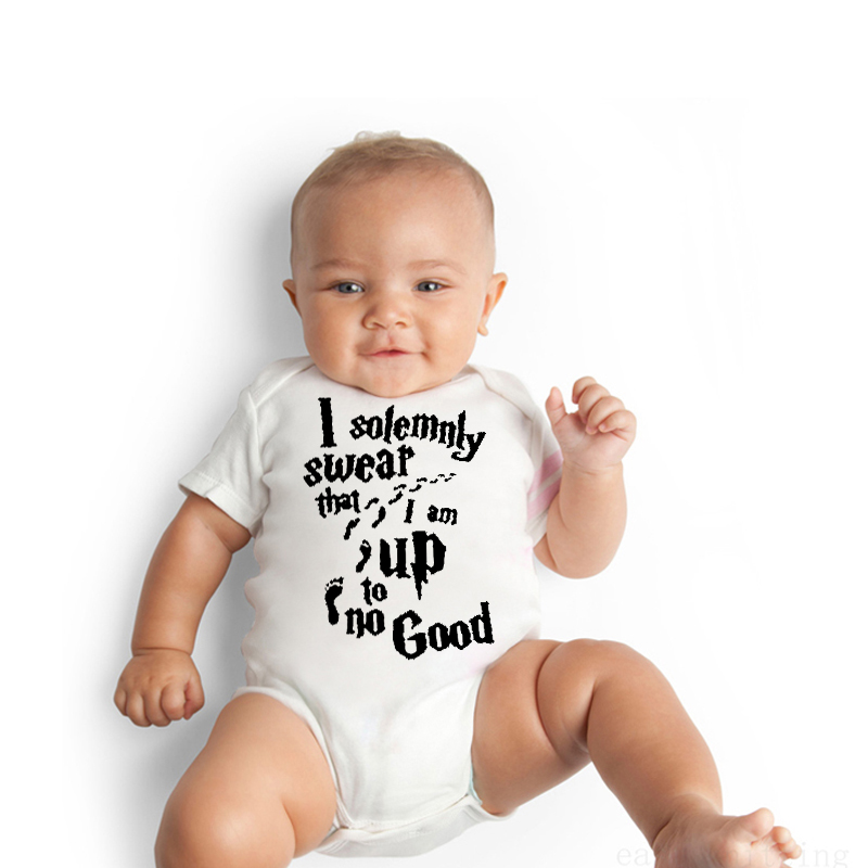 DERMSPE 2019 Newborn Infant Baby Boys Girls Short Sleeve Letter Print Toddler Soft Cotton Romper Comfortable Baby Clothes White in Bodysuits from Mother Kids