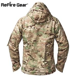 Image 2 - ReFire ציוד חורף הסוואה טקטי מעיל גברים עמיד למים חם עבה אוניית צמר מעיל רוח סלעית צבא שדה צבאי מעיל