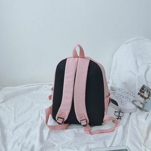 Image 5 - Game OW DVA Harajuku Nylon Backpack Female Travel Backpacks Stylish School Student Bag Pack Teenager Laptop Shoulder Travel Bags