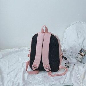 Image 5 - Oyun OW DVA Harajuku Naylon Sırt Çantası Kadın seyahat sırt çantaları Şık okul öğrenci çantası Paketi Genç Laptop Omuz Seyahat Çantaları
