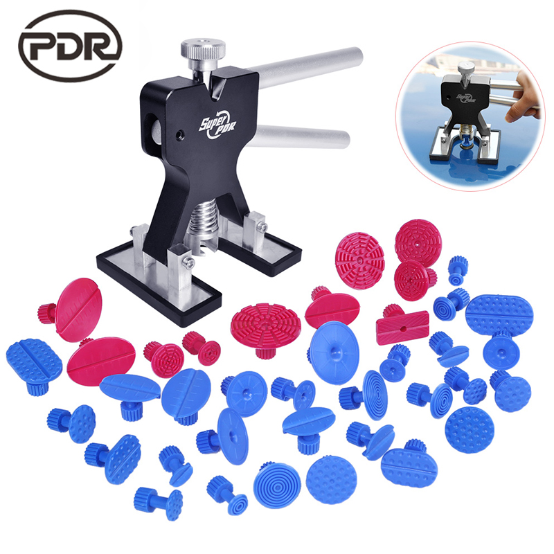 PDR Tools To Remove Dents Car Dent Repair Paintelss Dent Removal Puller Kit Lifter Removal Glue Tabs Fungi Sucker Hand Tool Set pdr tools auto repair tools for car kit dent removal paintelss dent repair mini lifter glue gun pulling bridge puller glue tabs