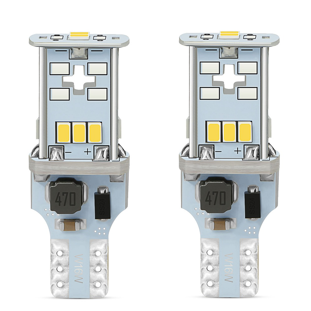 <font><b>T15</b></font> W16W 921 Super Bright High Power 1000LM 3020 <font><b>LED</b></font> Canbus OBC No ERROR <font><b>Car</b></font> Backup Reserve Lights Bulb Brake <font><b>Lamp</b></font> Xenon White image