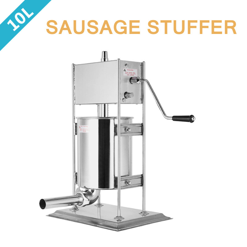 10L Vertical Sausage Filler Meat Mince Stuffer Maker Stainless Steel  Manual Sausage Stuffer Filler economic s steel manual s series sausage filler for hotel butcher home use and hunters