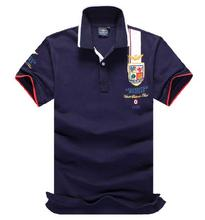 High-quality 2016 new men's polo shirt mens fashion Casual short sleeve polo 100% cotton free ship