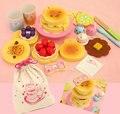 Nova chegada do bebê brinquedos de simulação de madeira brinquedos educativos brinquedo bolo de cozinha dos desenhos animados presente