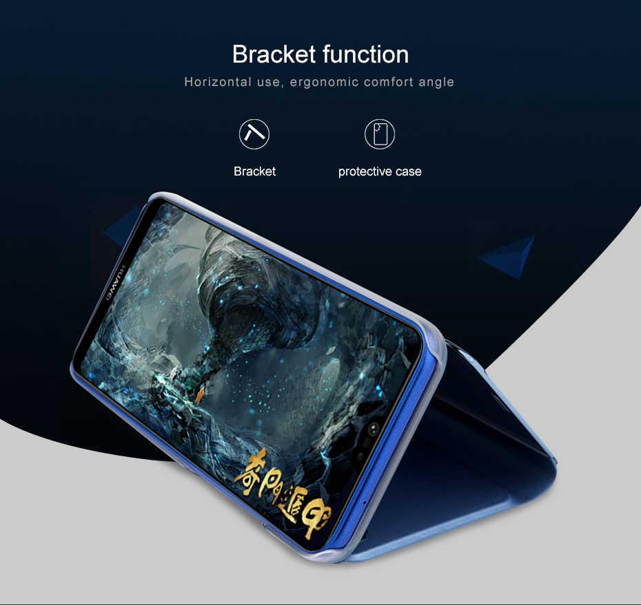 لسامسونج غالاكسي A7 A9 M30 A50 A60 A70 A90 رؤية واضحة مرآة ذكية حقيبة لهاتف سامسونج S7 S8/S9/S10 زائد فليب حامل حقيبة جلد