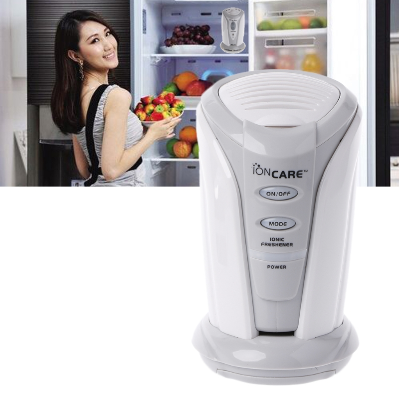 Battery Powered Ozone Air Purifier and Fresh Deodorizer for refrigerator and closets with colored LED 1
