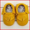 Bebé suave cuero genuino zapatos zapatitos de bebé niño zapatos de bebé mocasines suave Moccs zapatos de bebé