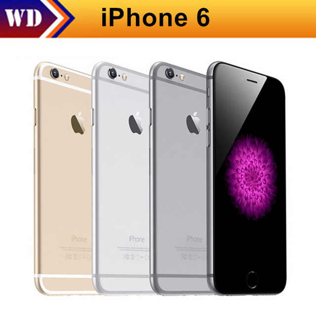 "Original iPhone 6 Dual Core IOS Ponsel 4.7 ""IPS RAM 1GB 16/64/128GB ROM 4G LTE Unlocked Digunakan Ponsel"