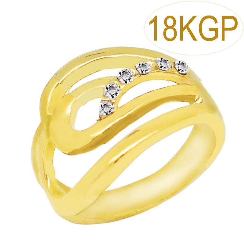 Useful Gold Color 2 Years Guarantee Gold Austrain Crystal Cloud Design Ring Fashion Jewelry Women Party Accessories 7171