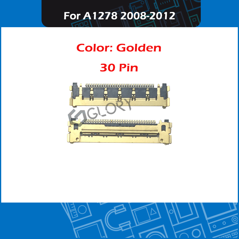 New Laptop A1278 LCD LED LVDs Cable Connector 30 PIN Golden For Macbook Pro 13'' A1278 A1342 2008-2012 Year