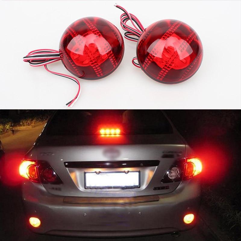 For Toyota Corolla/Korolla 2007 2008 2009 2010 Car LED Rear Bumper Reflector Lights Parking BrakeTail Light Round Lantern Lamp коврики в салон toyota corolla 2007