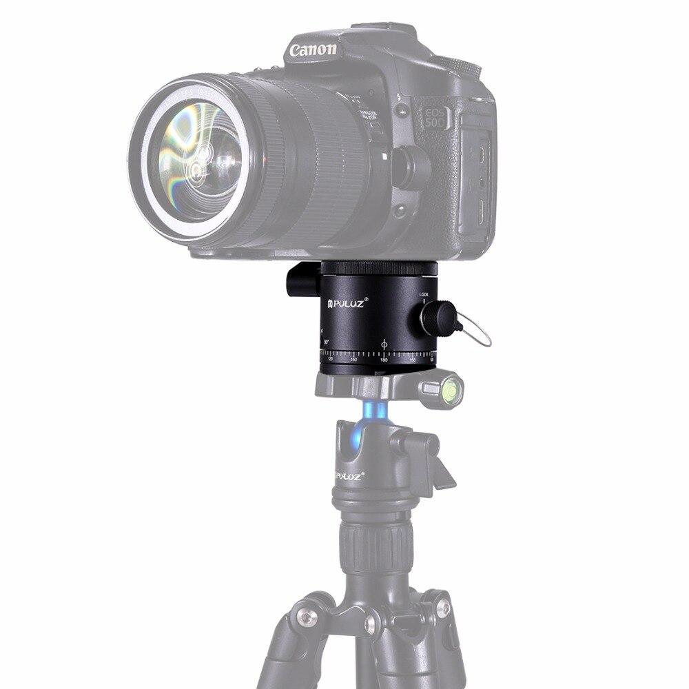 Tête de boule de rotateur d'indexation panoramique d'alliage d'aluminium de PULUZ pour le trépied d'appareil-photo de DSLR