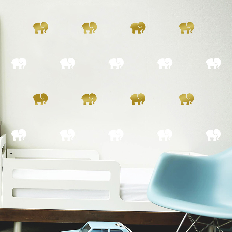 Cartoon Animals Elephant Wall Sticker For Kids Room Home Decoration Nursery Children Bedroom Decor Wall Art in Wall Stickers from Home Garden