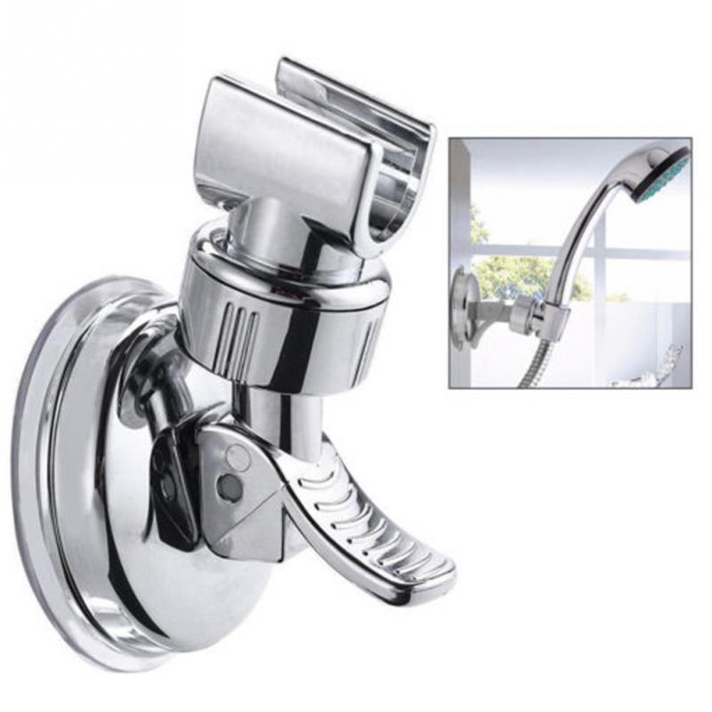 Suction Cup Holder Full Plating Shower Rail Head Slider Holder Universal Bracket