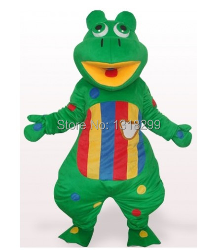mascot Colorful Frog Prince mascot costume fancy dress custom fancy costume cosplay theme mascotte carnival costume kits