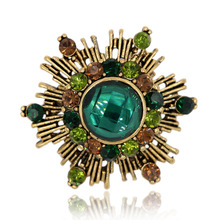 Firework Brooch Pin Crystal Rhinestone Hat Bag Accessory Vintage Male Suit Fashion Jewelry