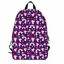 M444 2017 новые персонализированные Для женщин сумка Мода Мультфильм Единорог серии high-Ёмкость вентиляции школьная сумка для ноутбука