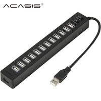 Acasis H018 High Speed USB 2.0 HUB 13 Ports High Quality Professional USB Splitter with Switch Button + Power Adapter