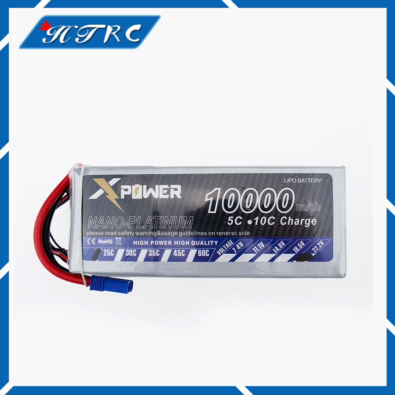 1pcs Xpower 11.1 V 10000 mAh 3S 30C XT60 T EC5 XT90 RC Drone Lipo Battery For RC Hubschrauber Auto boot Quadcopter Drone Bateria