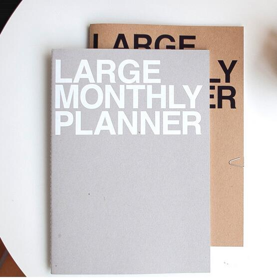 large monthly planner notebook 36 pages 16months plan 21 29 7cm
