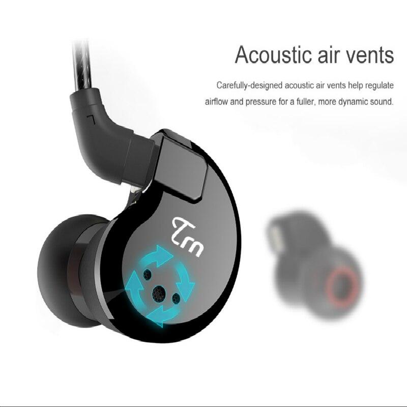 V80 2DD + 2BA Híbrido No Ouvido Fone de Ouvido de ALTA FIDELIDADE DJ Monitorar Execução Esporte Fone De Ouvido fone de Ouvido Earplug Para Huawei Xiaomi Telefone - 4