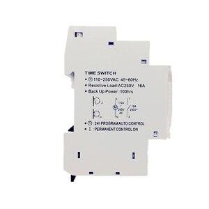Image 3 - Interruttore orario meccanico su guida DIN, interruttore orario meccanico, 24 ore, Timer programmabile, interruttore orario 16A