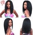Бразильский Прямые Волосы Полное Кружева Человеческих Волос Парики Afro Kinky прямо Glueless Фронта Шнурка Человеческих Волос Парики Девы Full Lace парики