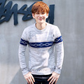 Knitted pullovers Man Autumn Winter New Fashion O neck Jacquard Knitwear Knitted Sweater Slim Jumper Teenager