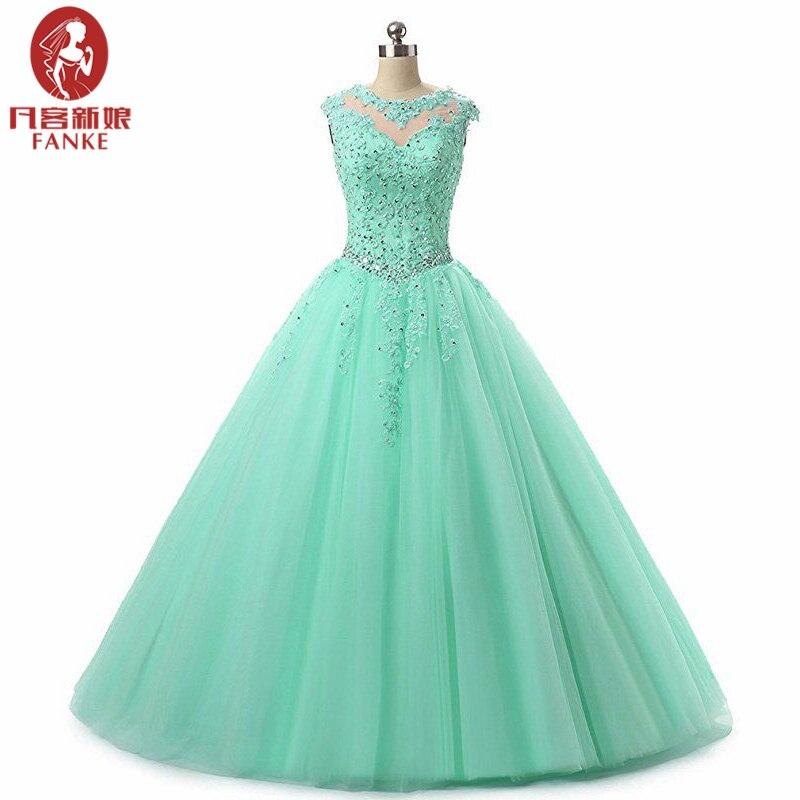 Cheap Hot Pink Light Blue Quinceanera Dresses Sweet 16 Ball Gowns Beaded Crystal Sleeveless Vestidos De 15 Anos Debutante Gown