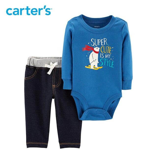 4f7e7d89ecea Carters Christmas Baby boy clothes 2-Piece Polar Bear Bodysuit Pant Set  cute baby autumn winter clothing 121I920