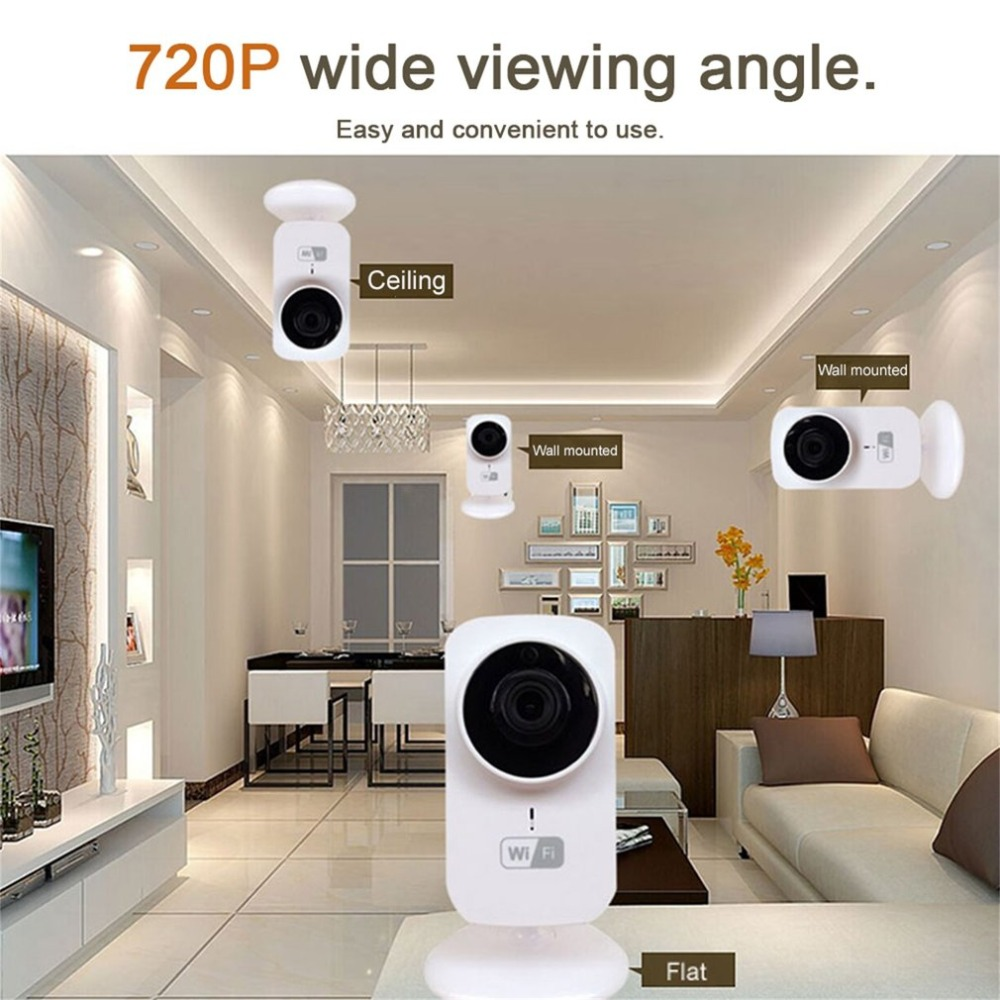 Home Security IP Camera Wireless Mini IP Camera Surveillance Camera Wifi HD 720P Night Vision CCTV Camera Baby Monitor US/EU qimage new winter autumn winter warm parkas women fashion silm long jacket coat fur collar lady cotton padded coat warm outwear