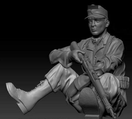 1/35 Resin Kits WWII German Sniper Not Assembled Uncolored