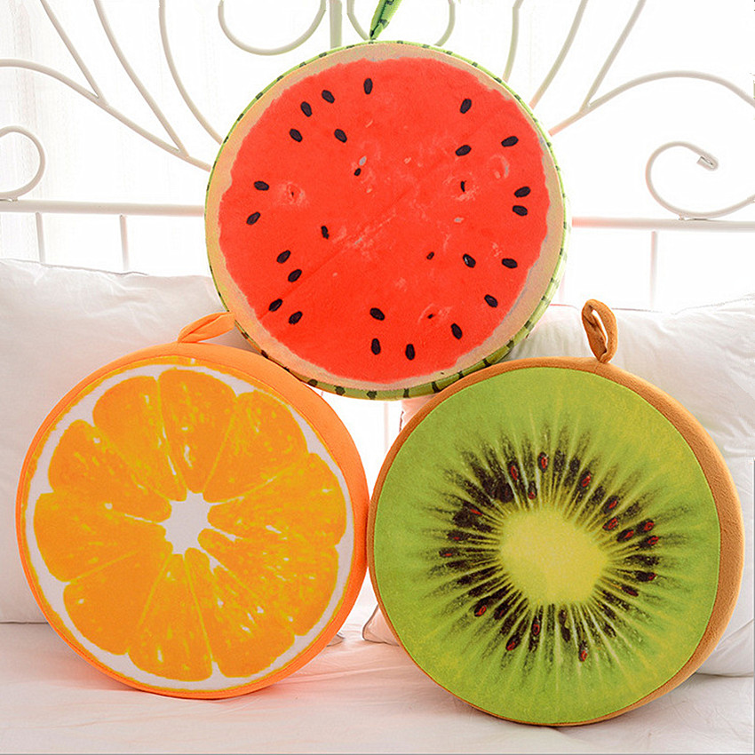 1 Stks 33/40 Cm 3d Fruit Knuffel Katoen Kussen Thuis Decoratieve Pluche Sofa Kussens Kantoor Stoel Terug Kussens Speelgoed