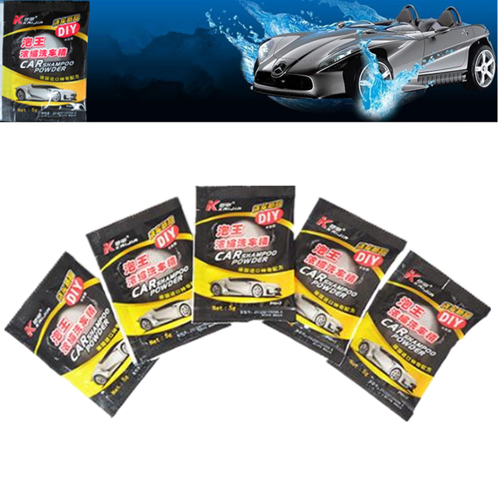 20PCS Powder Car Wash Shampoo Universal Cleaning Car Shampoo Multifunctional Cleaning Tools Car Soap Powder Car Windshield 2