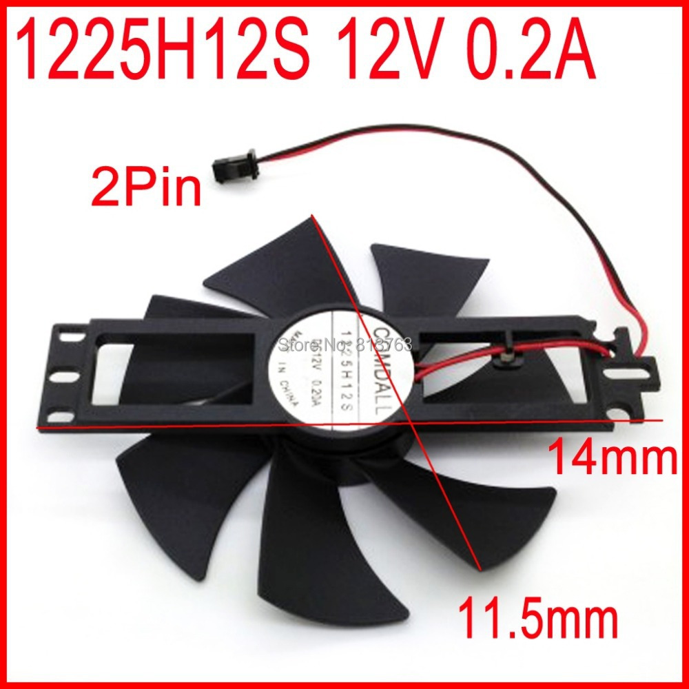 DC BRUSHLESS FAN 1225H12S 12V 0.2A 11.5mm For Induction Cooker Cooling Fan 2Pin