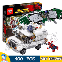400pcs Super Heroes Spider Man Movie Beware the Vulture Iron Man sy945 Figure Building Blocks Boy Toy Compatible With LegoING