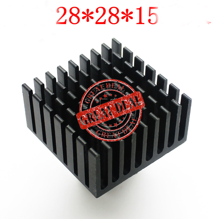 Free Ship brand new 100PCS Aluminum IC Heatsink 28 28 15MM Chip Thermal block high quality
