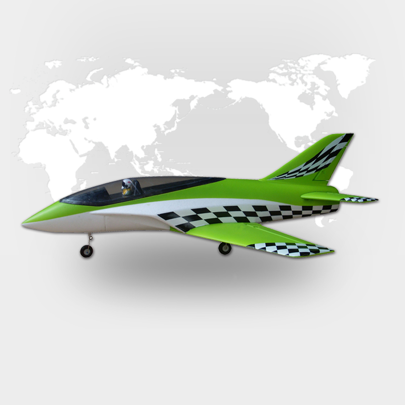 HSD RC AURORA 64MM EDF Green Plaid EPO Airplane KIT Model W/O ESC Motor Servo hsd epo red sky surfer rc kit gilder plane model w o motor servo 20a esc battery