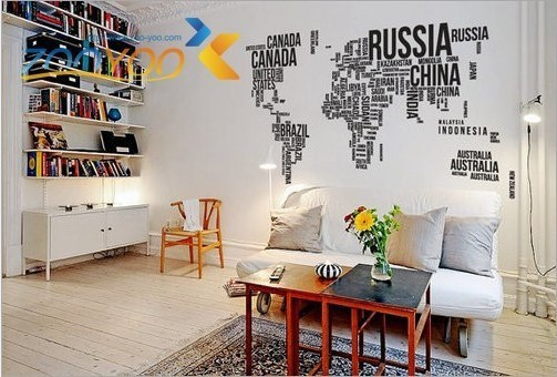 Large world map in words wall art sticker vinyl graphics decals large world map in words wall art sticker vinyl graphics decals home room decor gumiabroncs Image collections