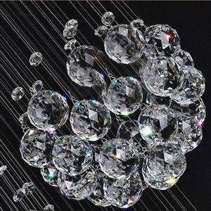 Image 5 - 2018 جديد الحديثة 13 قطعة بريق كريستال الكرة تصميم الثريا أضواء كبيرة لامعة دي كريستال D80 * H300cm ضمان 100%
