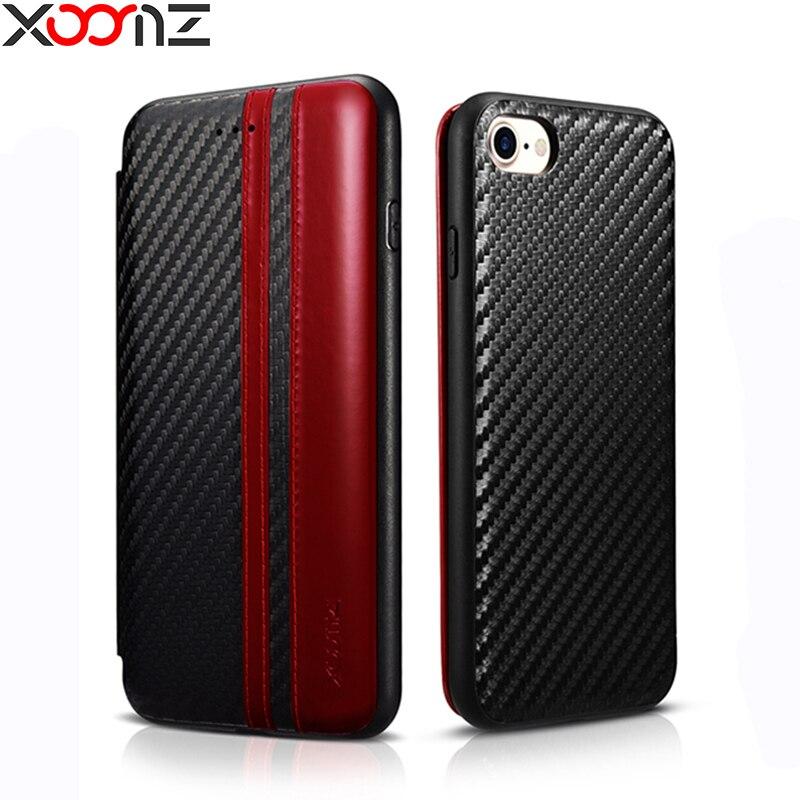 bilder für Für iphone 7 Fall XOOMZ Luxus Leder Flip-cover-mappenkasten für iphone 7 7 plus Volle Schutz Telefon-abdeckung Mit Karte halter