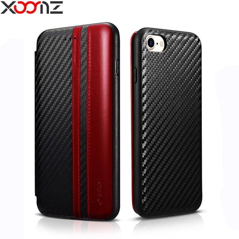 Цена за Для iPhone 7 Чехол xoomz роскошные кожаные откидная крышка кошелек чехол для iPhone 7 7 Plus Полный Защитная крышка телефон с держателя карты