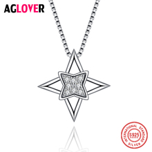 925 Sterling Silver Necklace Star Cubic Zircon Fashion Necklaces Pendants For Women Best Friend Gift