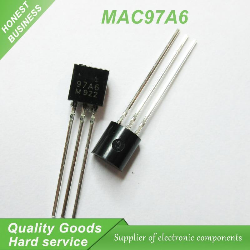 אוזניות ודיבוריות BlueTooth 50pcs משלוח חינם MAC97A6 97A6 TO-92 טריאקים THY .6A 400V TRIAC מקורי חדש (1)